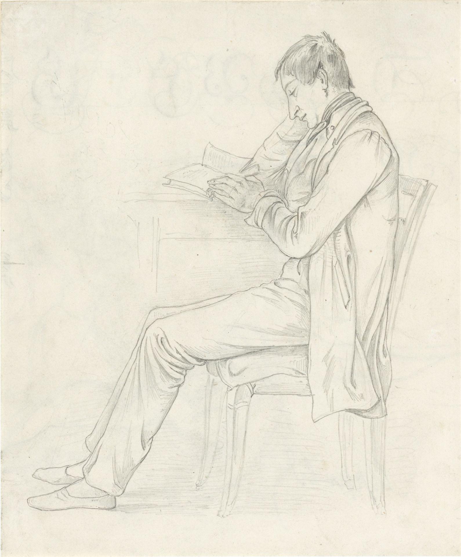 Johann Adam Klein. Lesender Student.