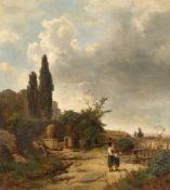 Oswald Achenbach. Italienische Landschaft. 1858