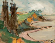 """Max Kaus. """"An der Elbe bei Dömitz"""". 1932"""