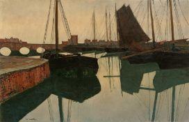 "Walter Leistikow. ""Hafen"". Um 1895"