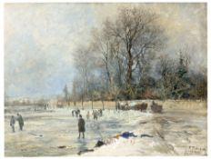 Paul Wilhelm Tübbecke. Winterlandschaft. 1888