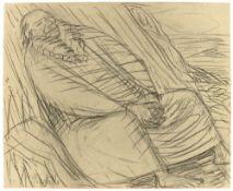 """Ernst Barlach. """"Moses, ins gelobte Land schauend"""". 1913"""