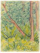 """Otto Mueller. """"Waldlandschaft mit Gräsern und Pflanzen"""". 1924"""