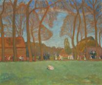 """Otto Modersohn. """"Hochzeitszug in Fischerhude (III)"""". Um 1920/21"""