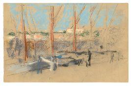 Max Liebermann. Segelboote im Hafen. 1902