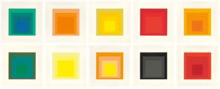 "Josef Albers. ""Homage to the Square (Edition Keller I)"". 1970"