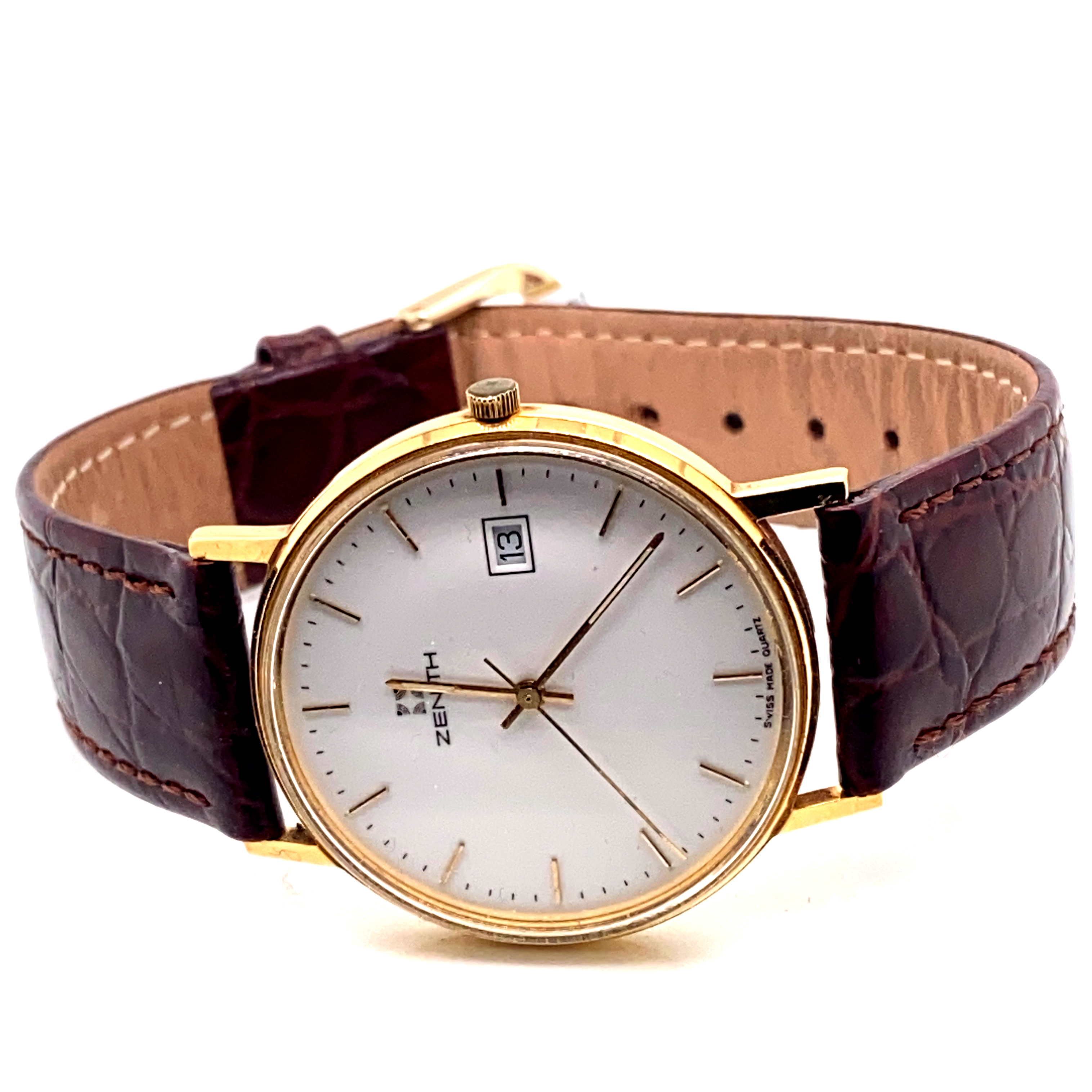 Lot 14 - Zenith 18ct quartz dress watch