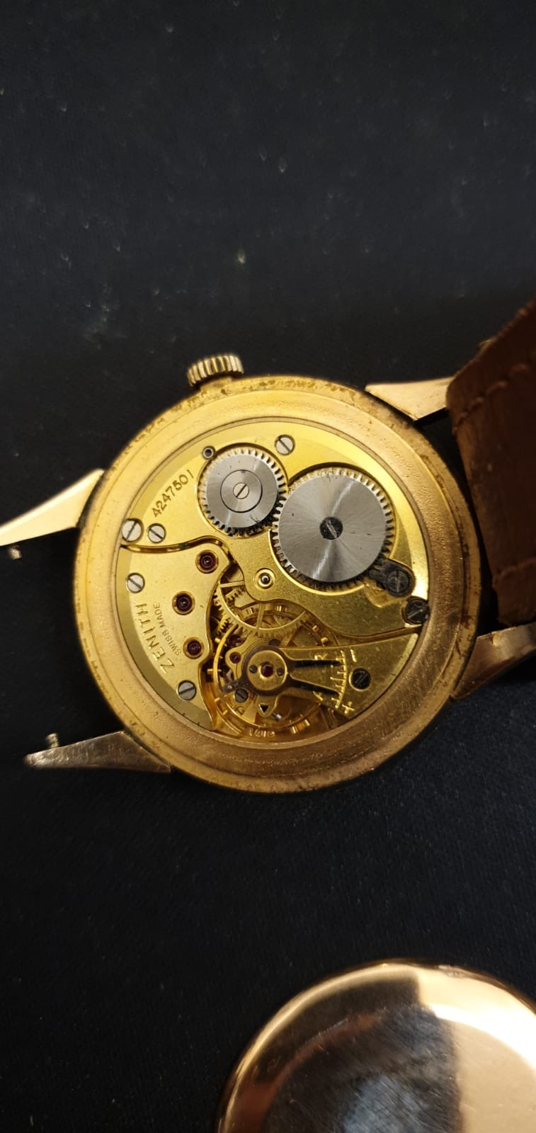 Lot 12 - Zenith Vintage Pink Gold Capped Watch