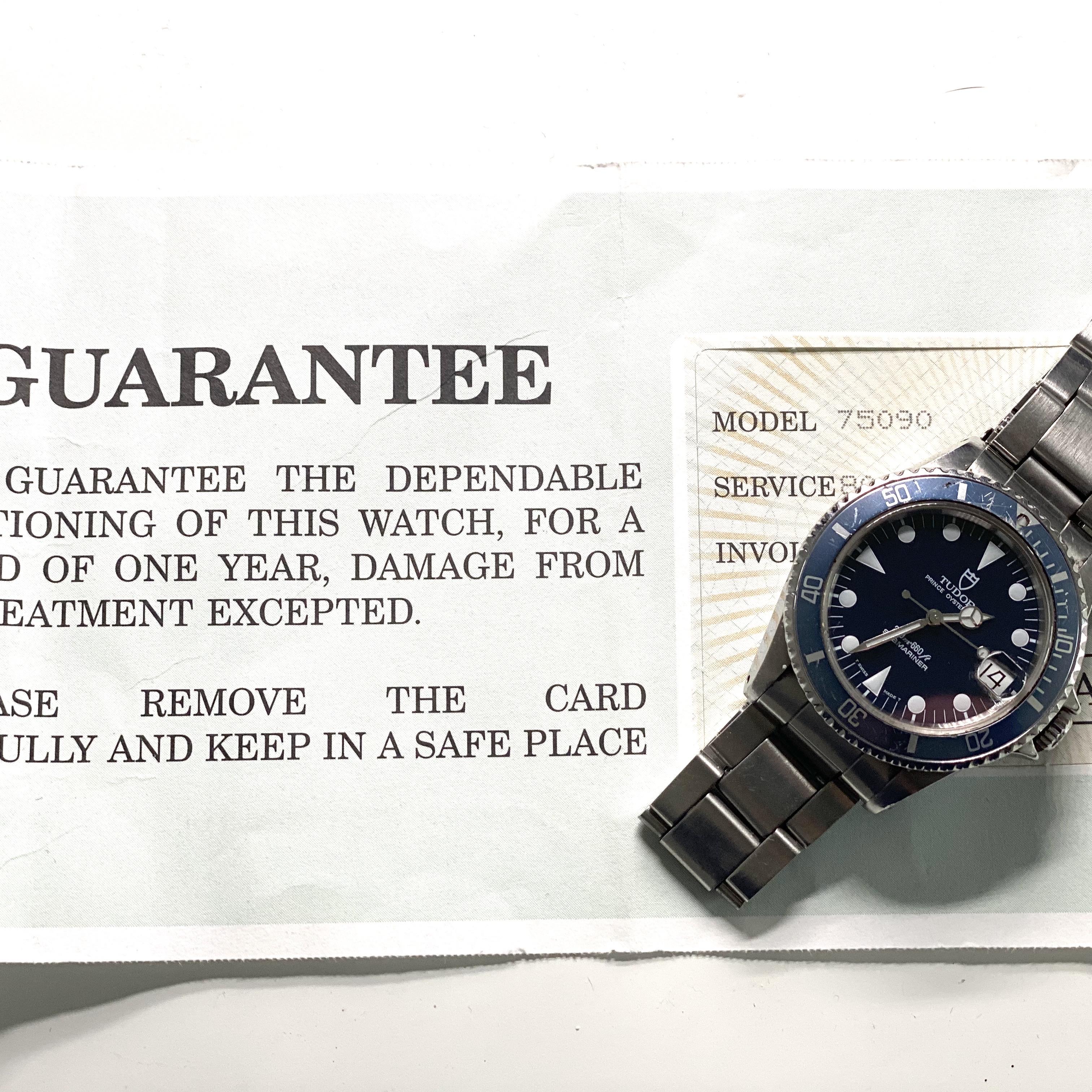 Lot 29 - Tudor Submariner Blue ref 75090