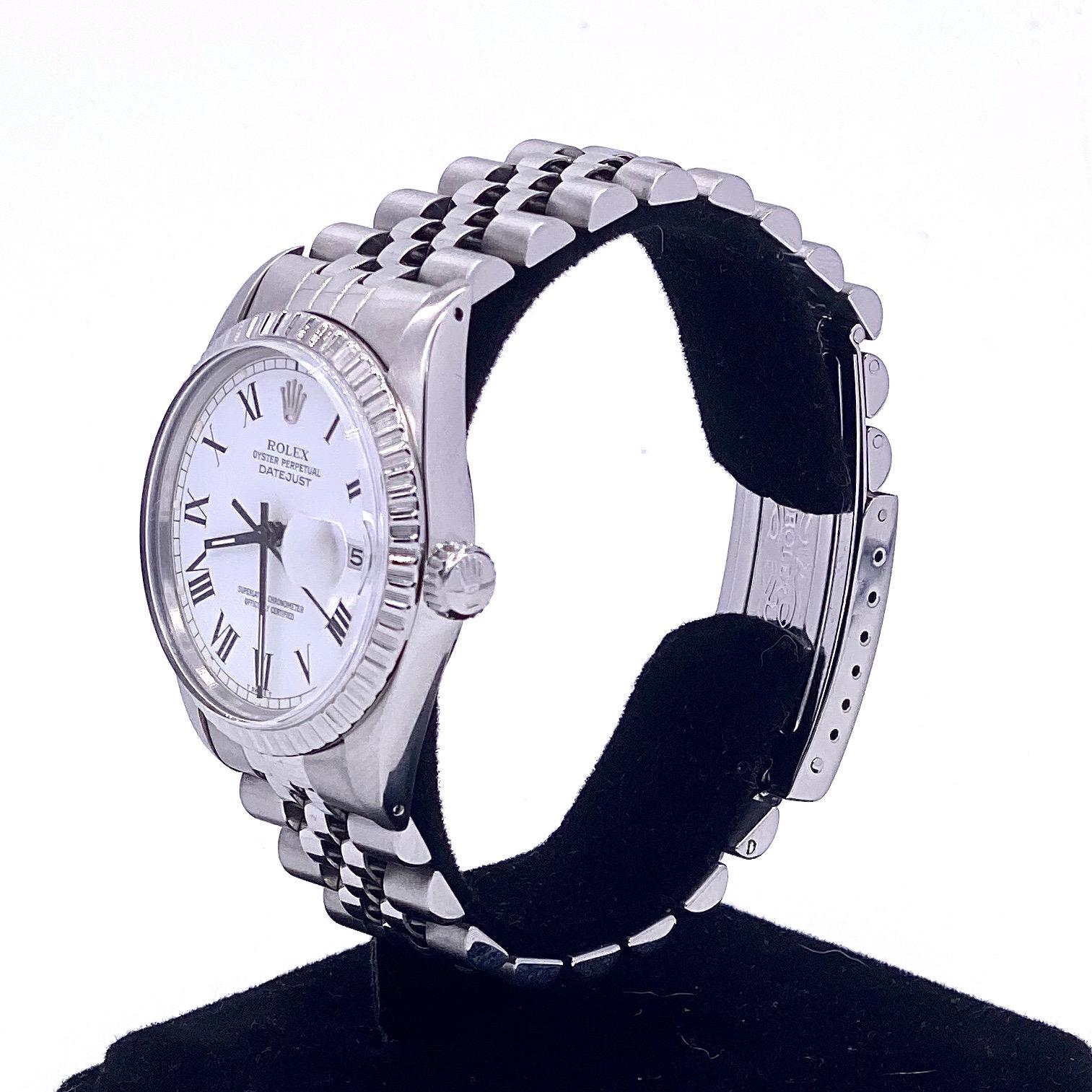 Lot 30 - Rolex Datejust Buckley ref 16030
