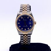 Rolex Oyster Perpetual Date Steel and Gold ref 15053