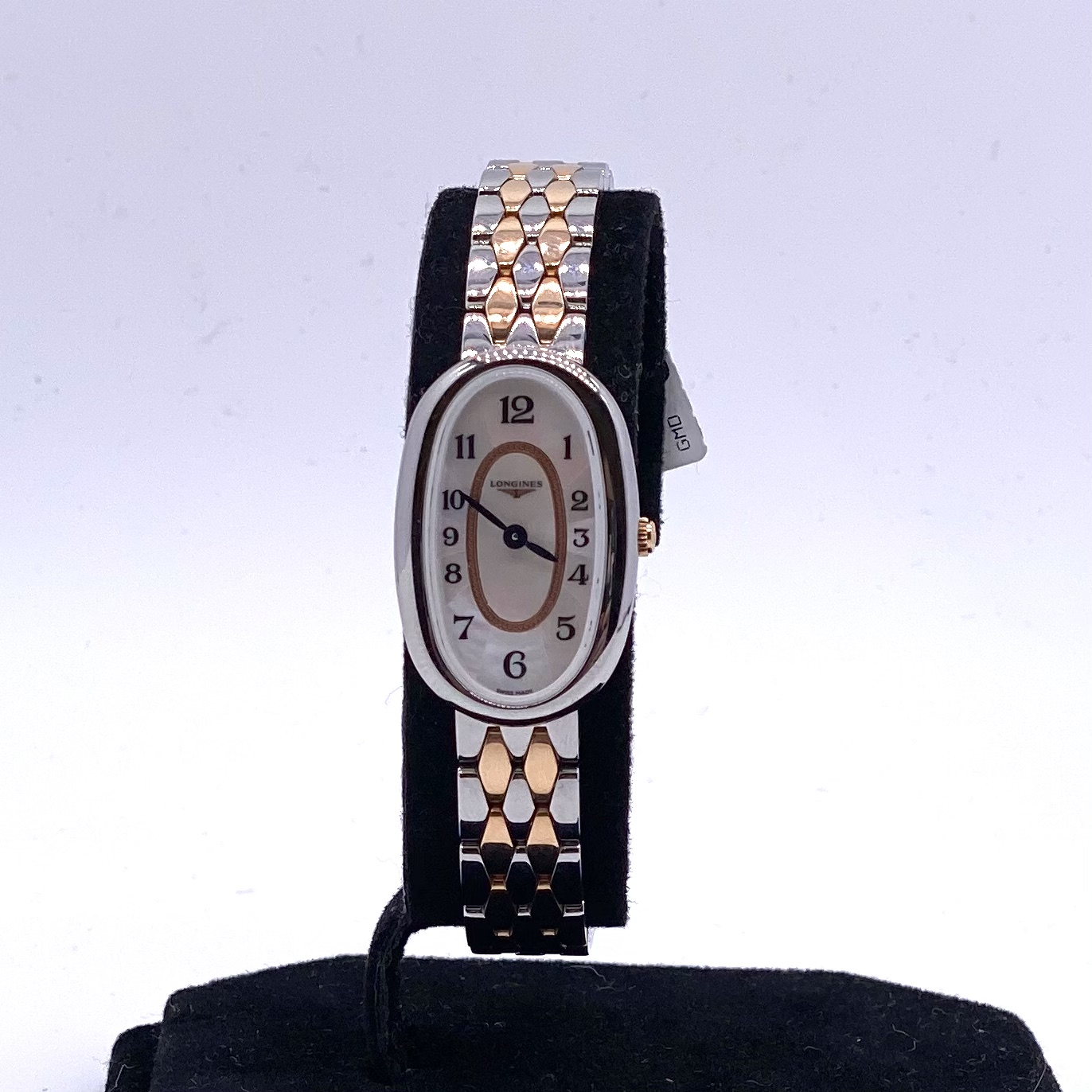 Longines Ladies Symphonette Steel and Gold Mother of Pearl Watch ref L23055837