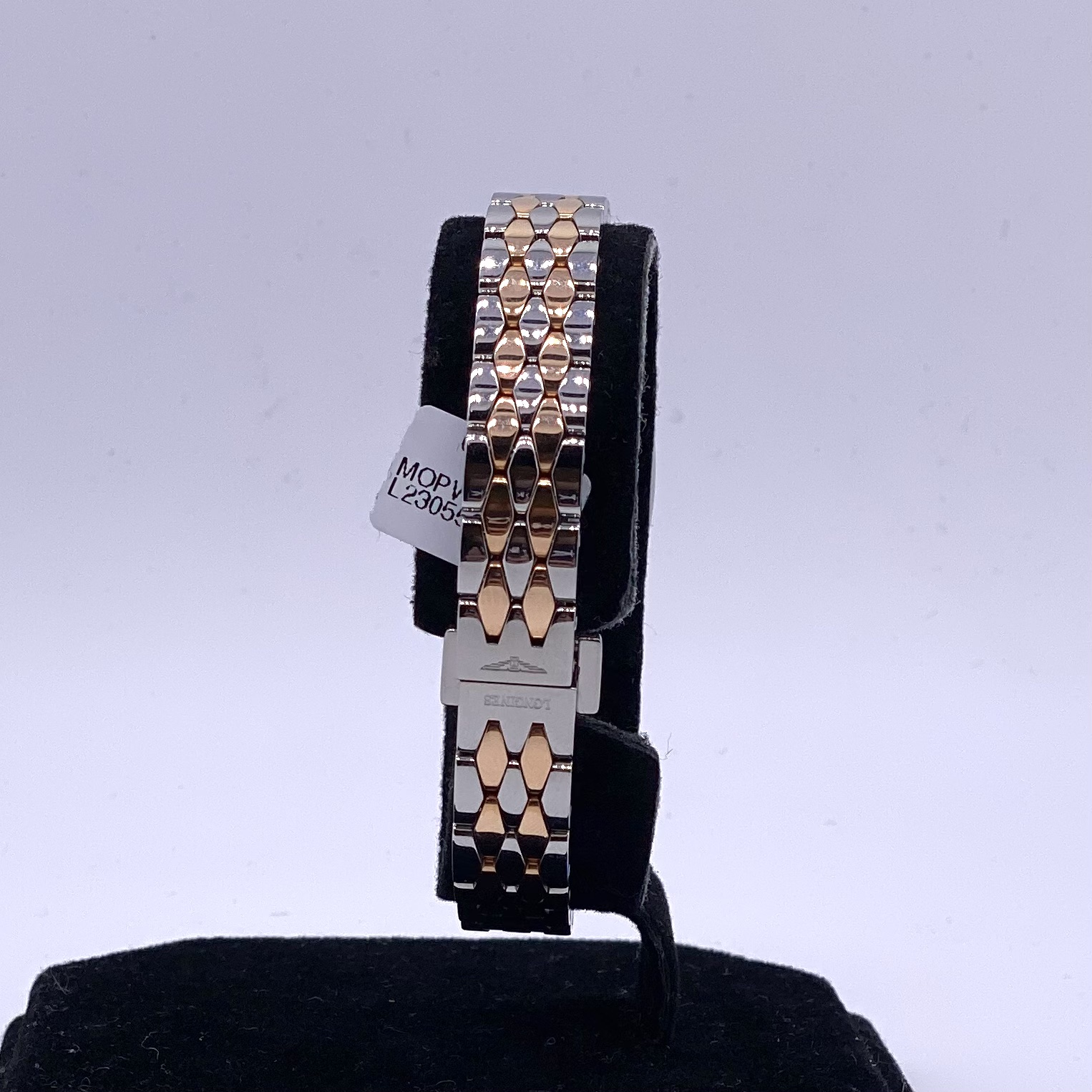 Longines Ladies Symphonette Steel and Gold Mother of Pearl Watch ref L23055837 - Image 3 of 3
