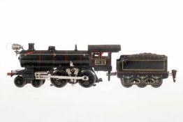 Märklin 2-B Dampflok E 13040, S 0, elektr., schwarz, mit Tender und 1 el. bel. Stirnlampe, Lok tw