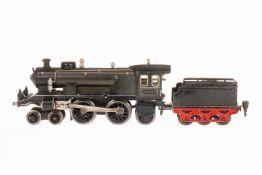 Märklin 2-B-1 Dampflok ECE 1020, S 0, Uhrwerk intakt, grau/schwarz, mit Tender und 2 imit.