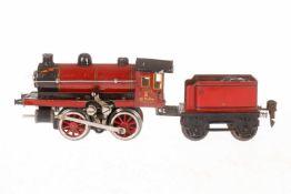 Märklin B-Dampflok R 12970, S 0, elektr., rot/schwarz, mit Tender und 1 el. bel. Stirnalmpe, LS tw