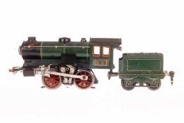 Märklin B-Dampflok R 65/13050, S 0, elektr., grün/schwarz, mit Tender und 1 el. bel. Stirnlampe,