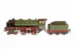 Märklin 2-B Dampflok E 66/12920, S 0, elektr., grün/schwarz, mit Tender, kW und 2 el. bel.