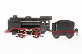 Märklin B-Dampflok R 66/12900, S 0, elektr., schwarz, mit Tender, gW und 1 el. bel. Stirnlampe, LS