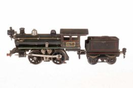 Märklin B-Dampflok, S 0, elektr., grau/schwarz, mit Tender und 1 el. bel. Stirnlampe, LS, bespielt