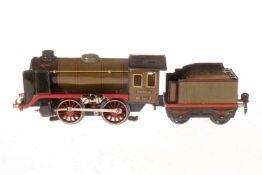 Märklin B-Dampflok R 66/12900, S 0, elektr., oliv/schwarz, mit Tender, kW und 1 el. bel. Stirnlampe,