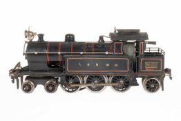 Märklin engl. 2-C-1 Tenderlok TH 3020 LNWR, S 0, Starkstrom, schwarz, mit 1 el. bel. und 1 imit.