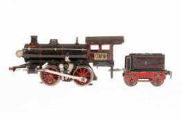 Märklin B-Dampflok R 13040, S 0, elektr., schwarz, mit falschem Tender und 1 el. bel. Stirnlampe, LS