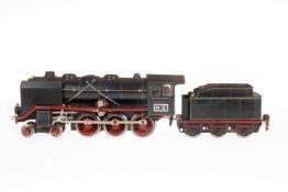 Märklin 2-C Dampflok GR 70/12920, S 0, elektr., schwarz, mit Tender, gW und 2 el. bel.