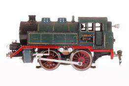Märklin B-Tenderlok T 66/12910, S 0, elektr., blau/schwarz, mit 2 el. bel. Stirnlampen, LS und