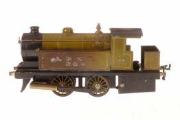 Bowman Tenderlok 265 LNER, S 0, spiritusbetrieben, grün/schwarz, mit Brenner und 2 oszill.