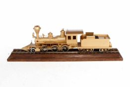 """Scale Model 1-C Schlepptenderlok """"Porter"""", Größe S 0m, Messing, ohne Antrieb, in Schauvitrine, L"""