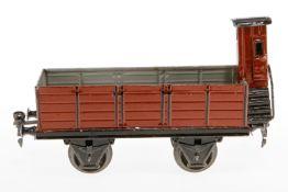 Märklin offener Güterwagen 1919, S 1, HL, mit BRHh, LS und gealterter Lack, L 19,5, sonst noch Z 2
