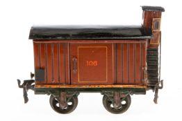 Märklin gedeckter Güterwagen 1804, S 2, uralt, HL, mit BRHh und 2 ST, Dächer tw nachlackiert, LS