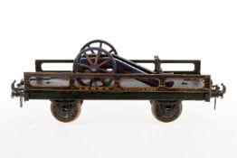 Carette Plattformwagen 1043 LNWR, S 2, uralt, CL, beladen mit Lutz/Märklin Lafette, LS und