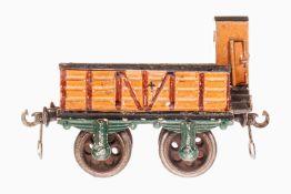 Märklin offener Güterwagen 1817, S 1, uralt, braun HL, mit BRHh und Gussrädern, Handlauf fehlt, LS