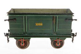 Märklin Rübenwagen 1832, S 2, uralt, HL, 1 Stirnseite und tw Rahmenbereiche nachlackiert, Haken