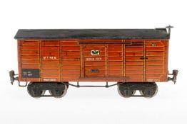 Märklin gedeckter Güterwagen 2926, S 1, HL, mit 2 ST, Bremserrad ersetzt, tw nachlackiert, L 30,5, Z