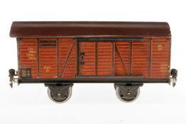 Märklin gedeckter Güterwagen 1781, S 1, CL, mit 2 ST, Dach rest., LS, L 24, Z 3