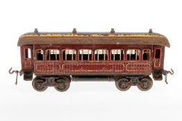 Bing Schlafwagen, S 1, uralt, HL, mit Inneneinrichtung, NV, L 32, Z 4