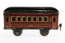 Märklin Personenwagen 1884, S 1, CL, mit 4 AT, 1 Türgriff und 1 Kupplung fehlen, LS und gealterter