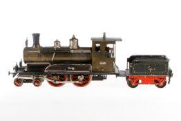 Märklin 2-B Dampflok E 4022, S 2, uralt, spiritusbetrieben, HL, mit Tender, NB-Brenner und 3 imit.