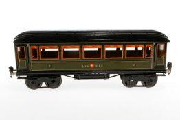 Märklin schweizer Personenwagen 1886, S 1, CL, mit 4 AT, ohne Scheiben, LS und gealterter Lack, L