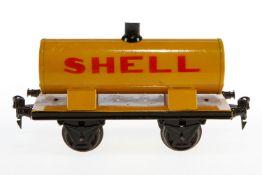 Märklin Shell Kesselwagen 1973, S 1, HL, LS und gealterter Lack, L 19,5, Z 2