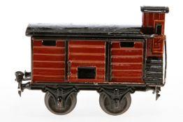 Märklin gedeckter Güterwagen 1804, S 1, uralt, HL, mit BRHh und 1 ST, LS und gealterter Lack, Dach