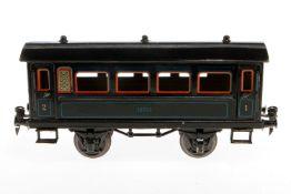 Märklin Personenwagen 1874, S 1, CL, mit 4 AT, LS tw ausgebessert, gealterter Lack, L 24,5, im OK (