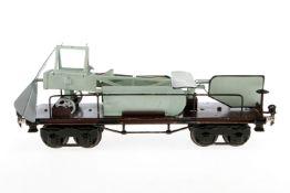 Märklin Flugzeugtransportwagen 1881, S 1, HL, mit Flugzeug und Original-Pilot, 1 Strebe an Flügel