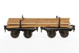 Märklin Langholzwagen 1814 G, S 1, HL, LS und gealterter Lack, L 28, sonst noch Z 2