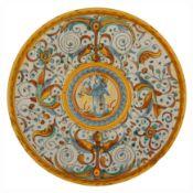 ALZATA IN MAIOLICA POLCROMA, FORNACE DI DERUTA, 1550-1570