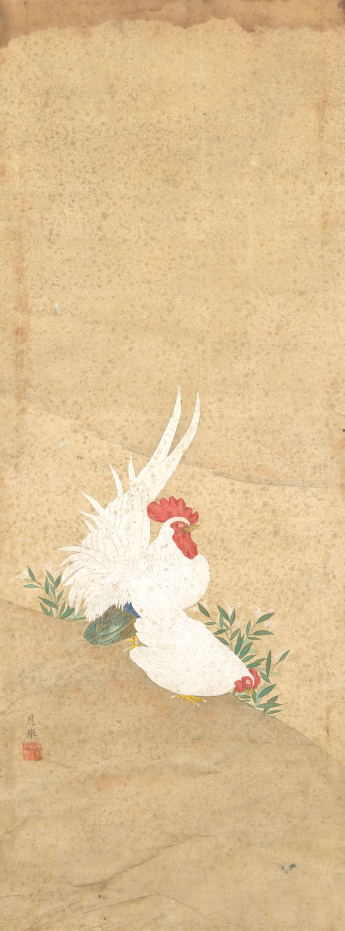 Los 198 - TWO PAINTINGS ON SILK, CHINA, 19TH-20TH CENTURY (2)