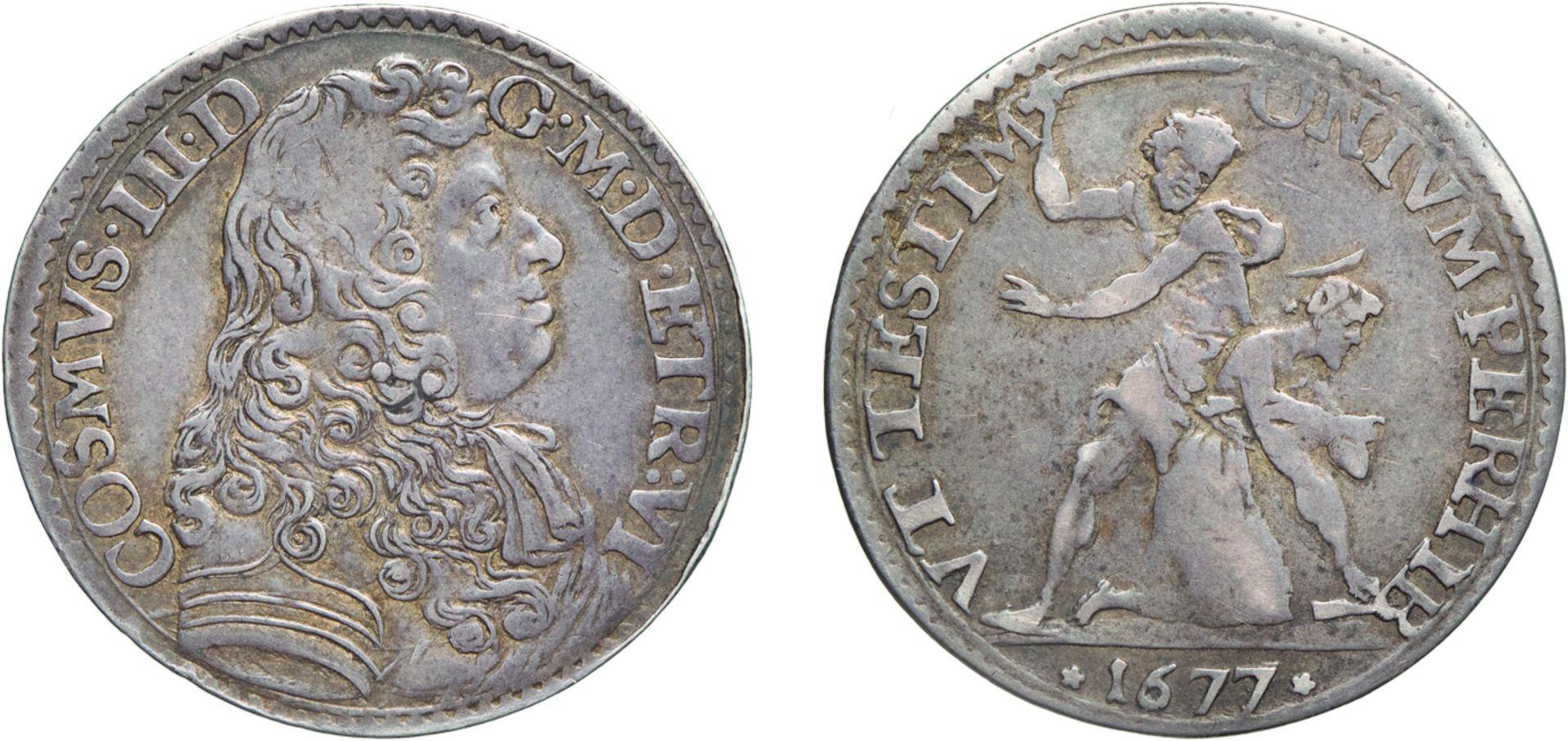 Los 372 - ZECCHE ITALIANE. FIRENZE. COSIMO III (1670-1723). LIRA 1677